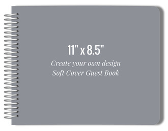 Create Your Own 11x8.5 Soft Cover Guest Book