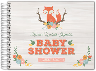 Cute Fox Woodland Baby Shower Guest Book