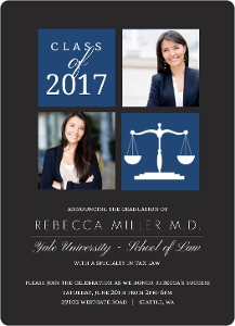 School Colors Law School Graduation Invitation