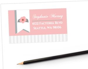 Light Pink Floral Address Label