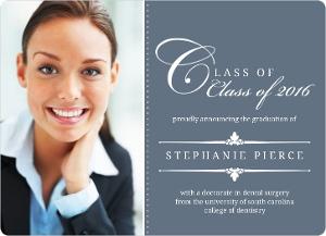 Blue Classic Frame Graduation Announcement