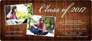Rustic Elegance Graduation Announcement