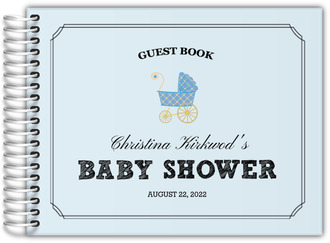 Double Frame Stroller Baby Shower Guest Book