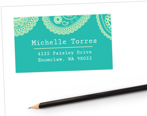 Country Paisley Address Label