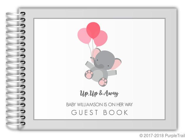 up up u0026 away baby shower guest book