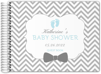 Bow Tie Chevron Baby Shower Guest Book