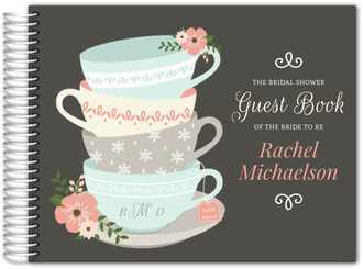 Charming Tea Cups Bridal Shower Guest Book