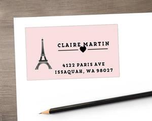 Whimsical Eiffel Tower Address Label