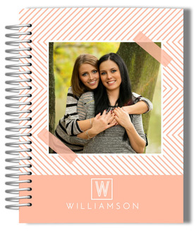Peach Chevron Photo Lesbian Wedding Planner