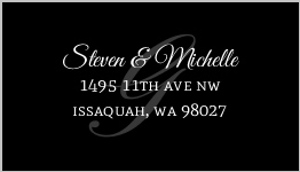 Classy Background Initial Address label