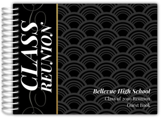 Black and Gold Class Reunion Guest Book