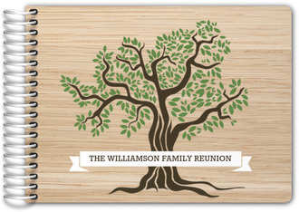 Woodgrain Tree Family Reunion Guest Book