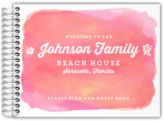 Watercolor Beach House Guest Book