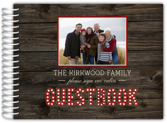 Rustic Wood Marquee Decor Cabin Guest Book