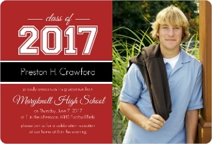 Classic Red Graduation Magnet