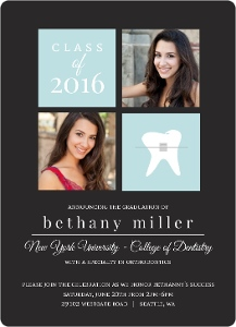 Gray Dentist Graduation Announcement