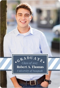 Modern Frame College Graduation Announcement Magnet