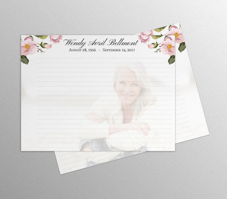Custom Photo Funeral Guest Book Inside Page