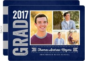 Bold Chalkboard Graduation Announcement