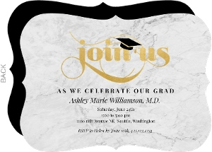 classic marble graduation party invitation - Law School Graduation Invitations