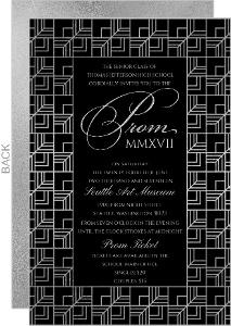 Modern Geometric Pattern Senior Prom Invitation