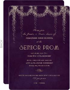 Fancy Starburst Lights Prom Invitation