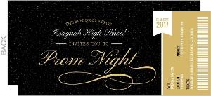 Prom Ticket Stub Prom Invitation