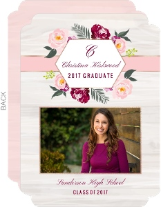 Boho Floral Graduation Announcement
