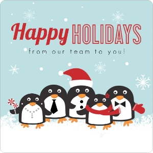 Penguin Team Business Holiday Card