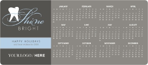 Gray and Blue Business Holiday Calendar