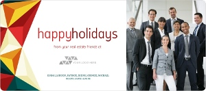 Bold Geometric Real Estate Business Holiday Greeting