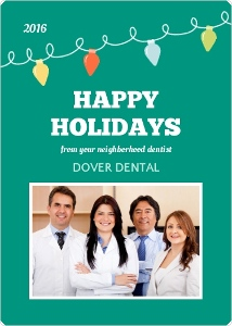 Whimsical Floss Health Service Business Holiday Greeting