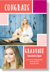 Modern Color Block Graduation Poster