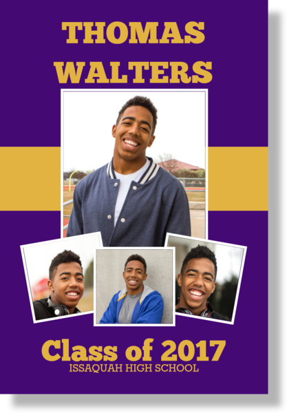 School Colors Photo Collage Graduation Poster