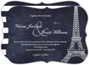 Whimsical Paris Wedding Invitation