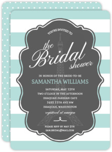Pastel Paris Bridal Shower Invitation
