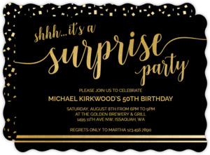 It's A Surprise 50th Birthday Invitation