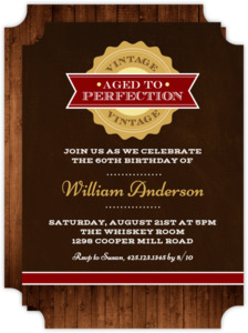 Vintage Perfection Birthday Invitation