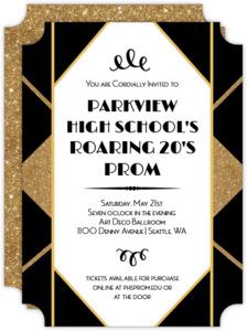 Geometric Roaring Twenties Prom Invitation