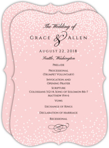 Blush Confetti Wedding Program