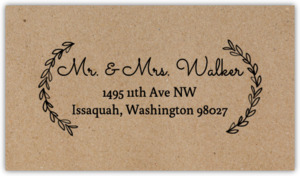 Rustic Chalk Wreath Initial Address Label