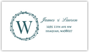 Navy Star Wreath Address Label