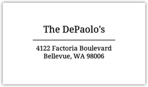 Simple Black and White Address Label