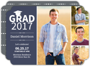 Simple Photo Collage Graduation Invitation