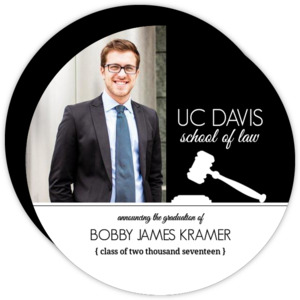 Law School Gavel Graduation Invitation