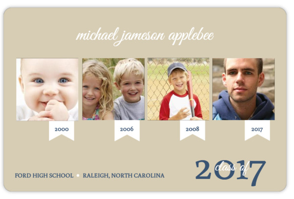 Taupe Timeline Graduation Announcement