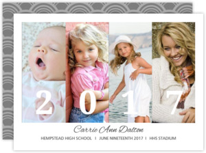 Black and White Favorite Moments Graduation Announcement