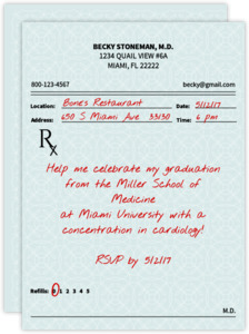 Prescription Medical School Graduation Invitation