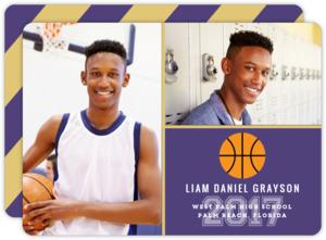 School ColorS Basketball Graduation Announcement