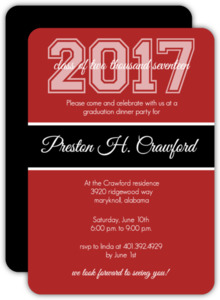 Varsity Year Graduation Party Invitation
